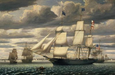 Ship Southern Cross in Boston Harbor