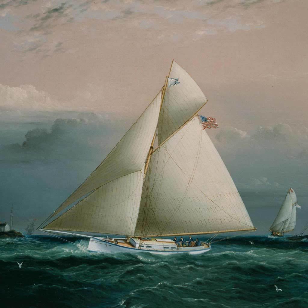 Yacht Chiquita, ca. 1880