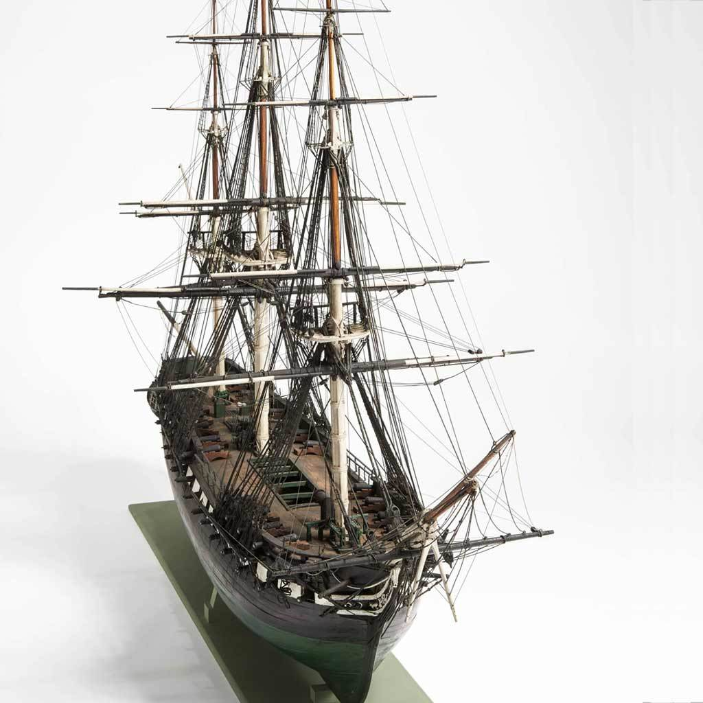 Model of united states frigate constitution, ca. 1812