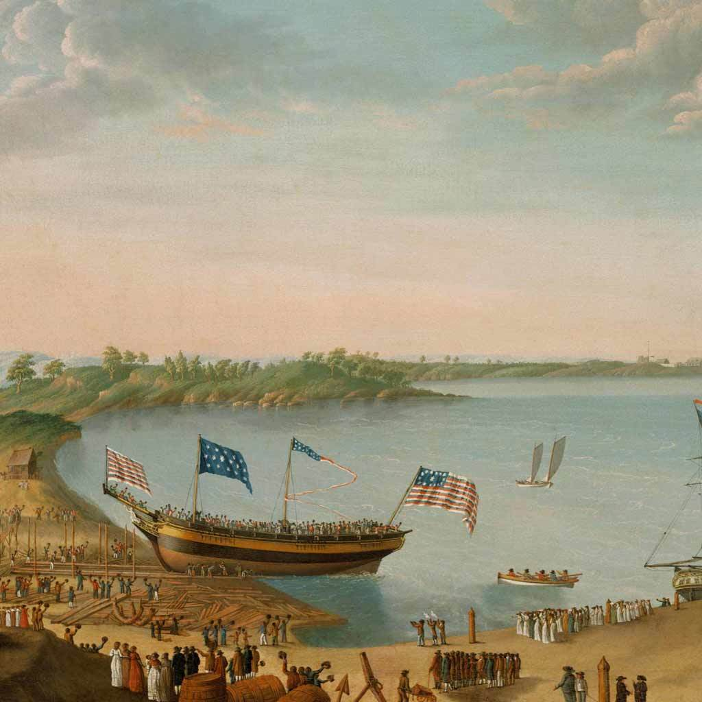 Launching of the Ship Fame, 1802