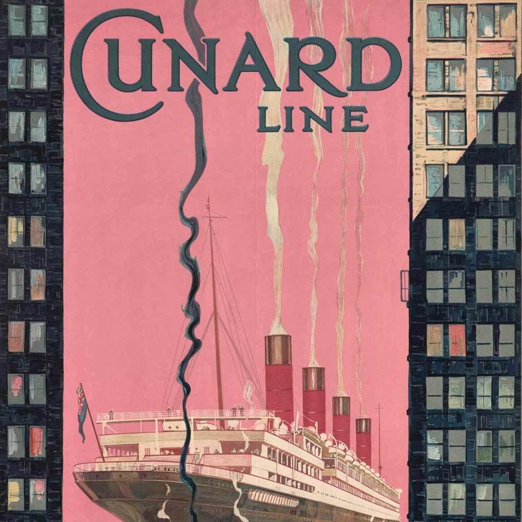 Cunard Line Europe – America, 1925