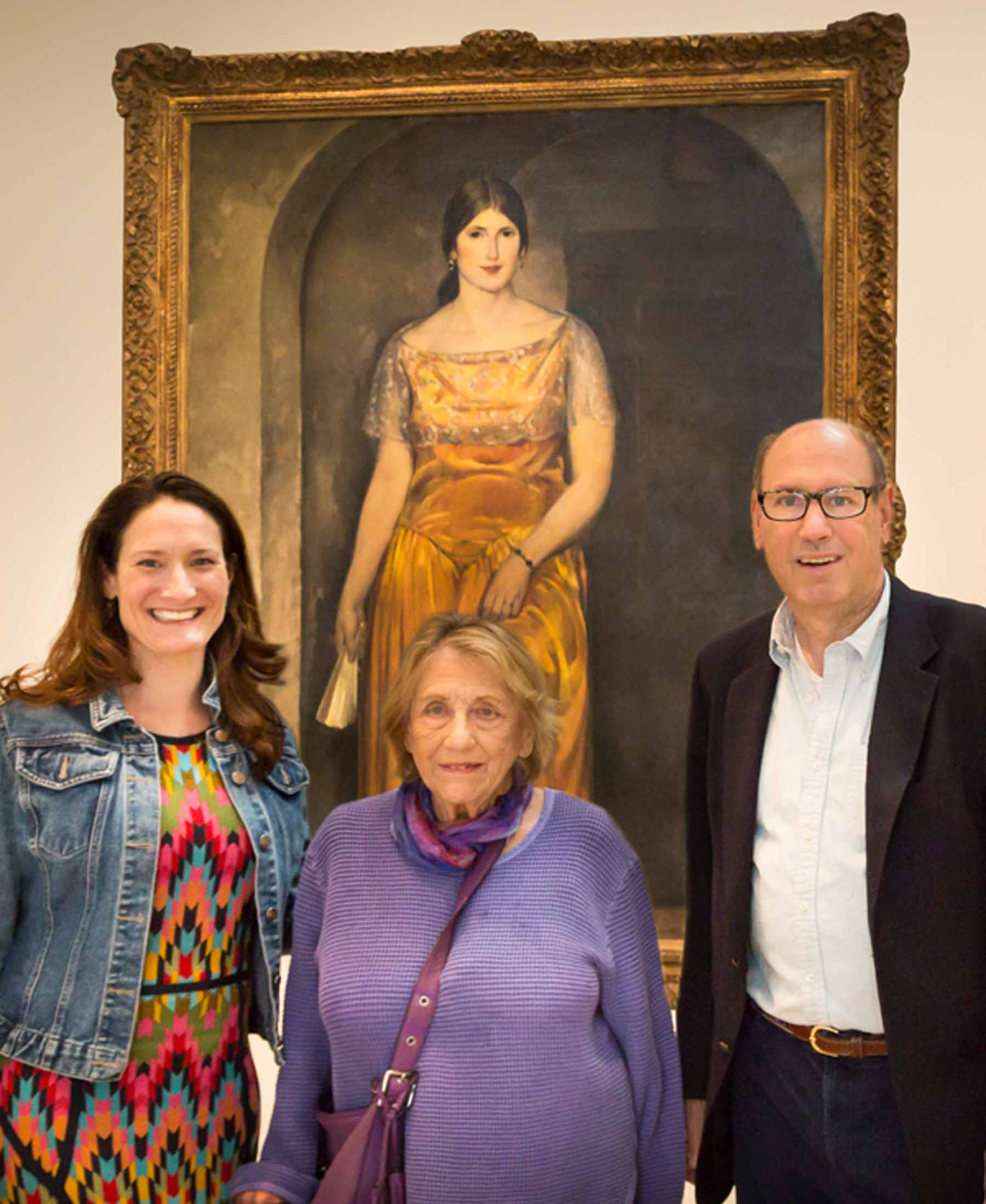 PEM Curator Austen Barron Bailly, Marie Kroll Rose and her son Jim Rose. Photo by Allison White