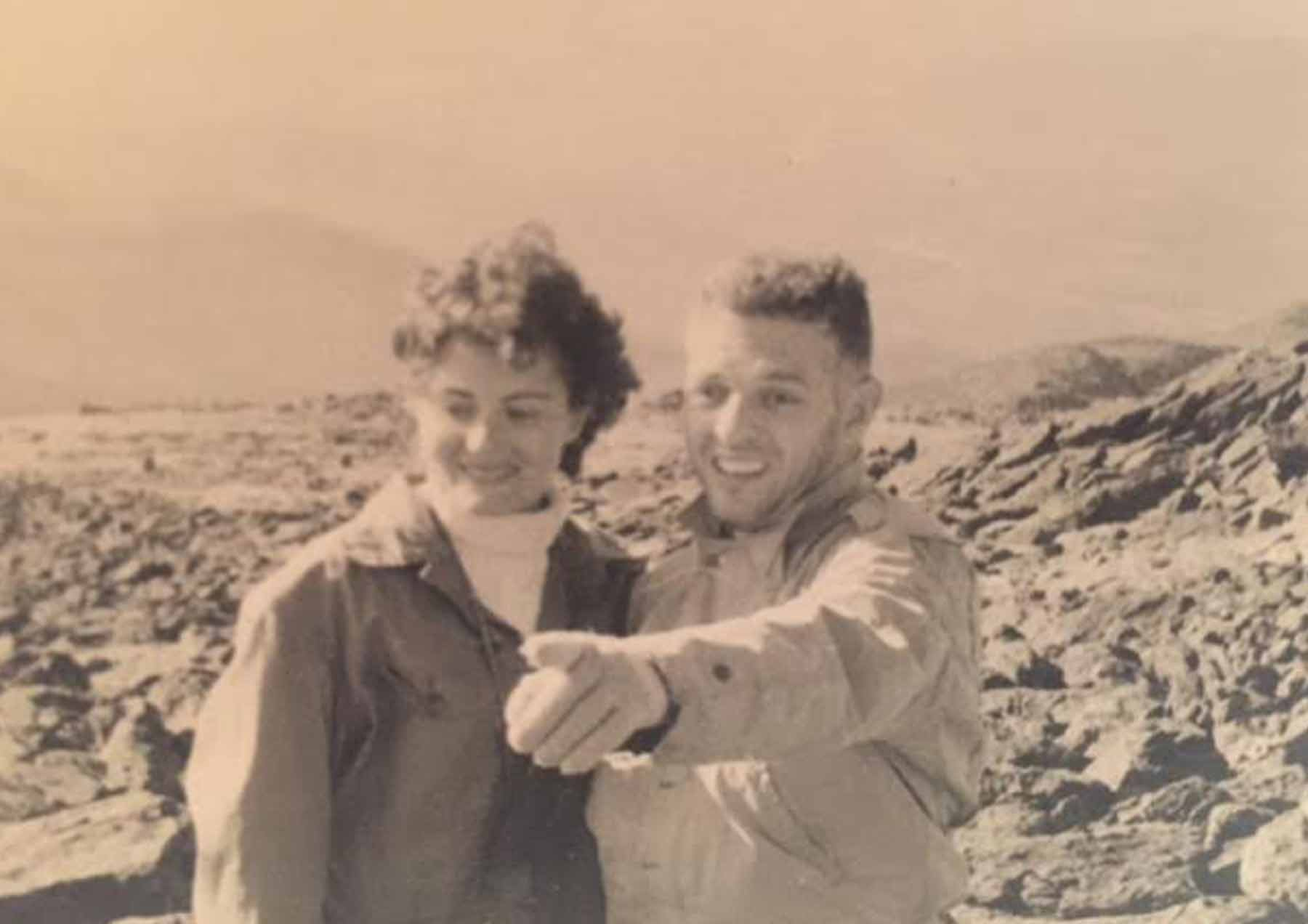 Sheila and Sam Robbins in the White Mountains. Courtesy photo