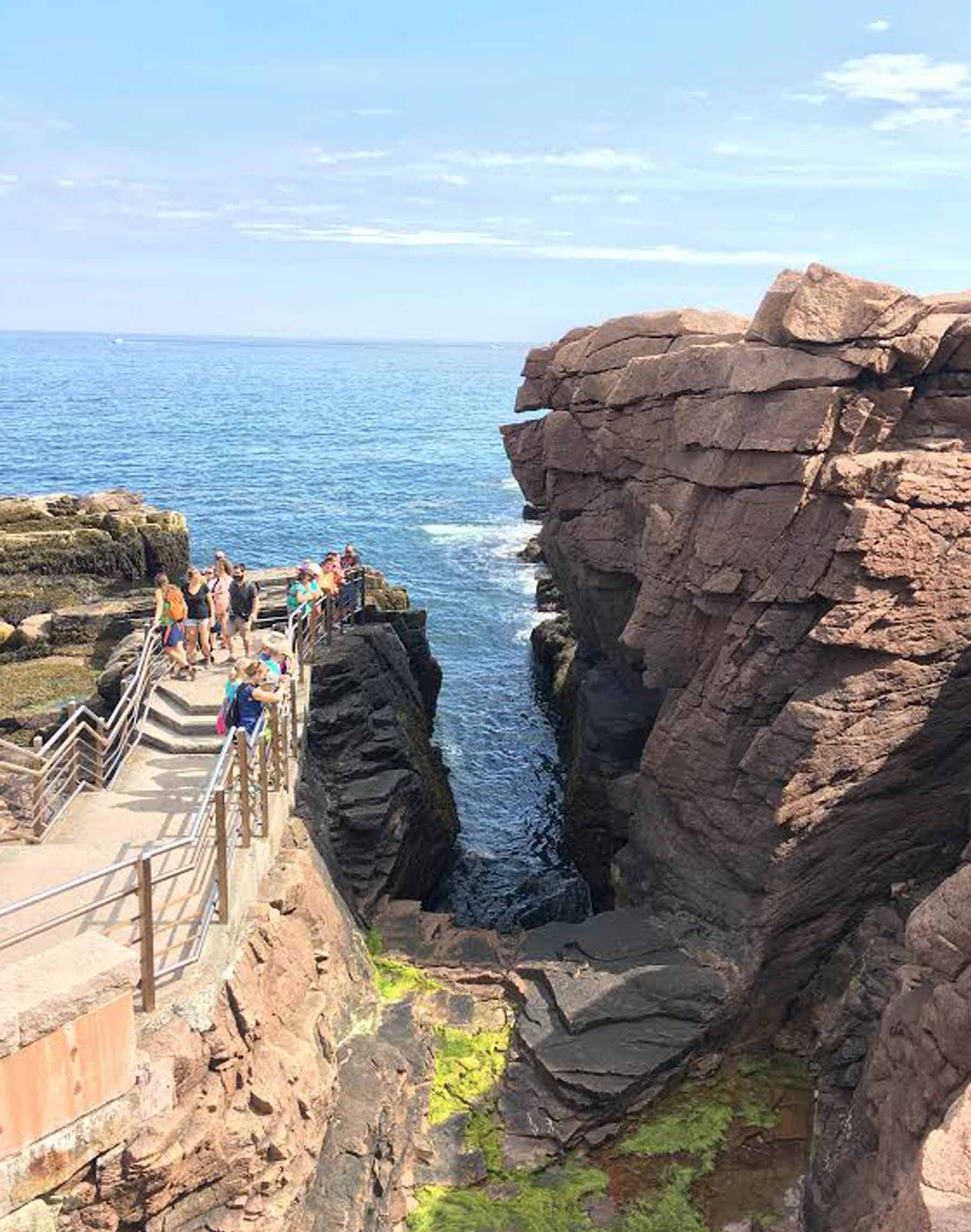 This feature is known as Thunder Hole.