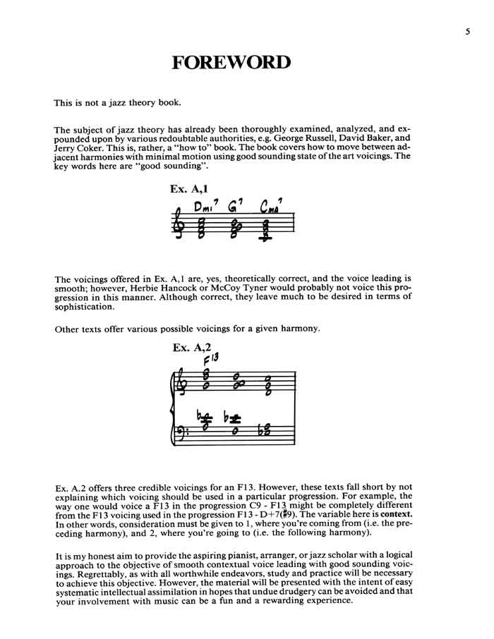 Frank mantooth voicings