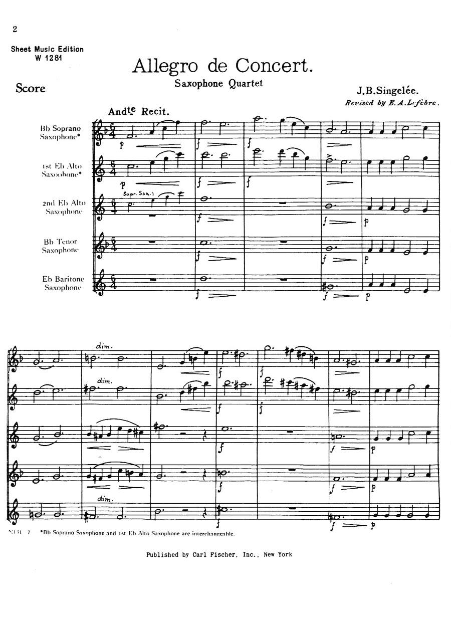 Saxophone Quartets and Larger Ensembles