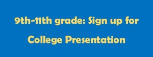 Sign-up button-collegepresenation