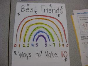 Best Friend Math Rainbow- Ways to Make 10