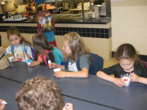 1st Grades Eating Water Ice