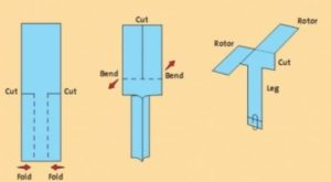 How to make a paper Helicopter Design Template