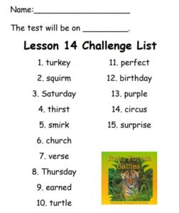 Lesson 14 Challenge List
