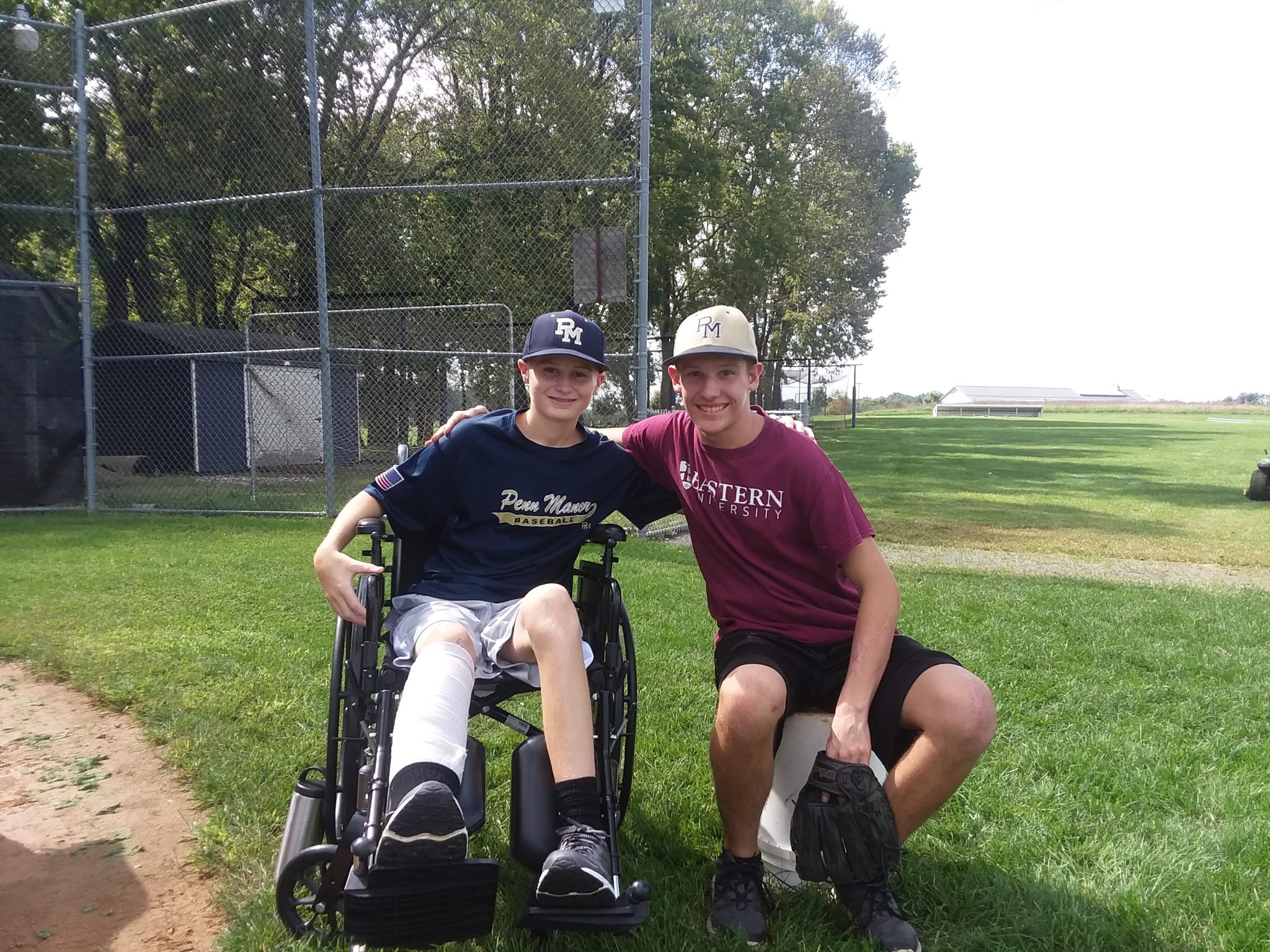 What a joy to see these two guys at batting practice this morning!  It's been a long road of hospital stays, rehabs, and plenty of recovery still to come, but Comet Field is a much better place with Andrew Glenn and Josiah Snyder in the house!!!