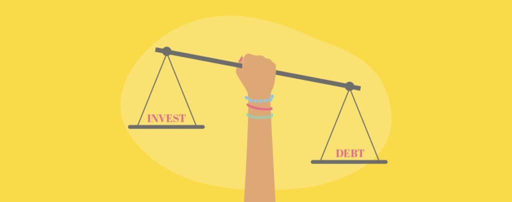 Should you invest or pay off debt illustration
