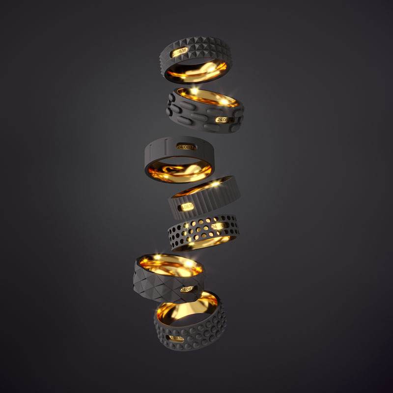 Industrial Wedding Rings by Igor Komov