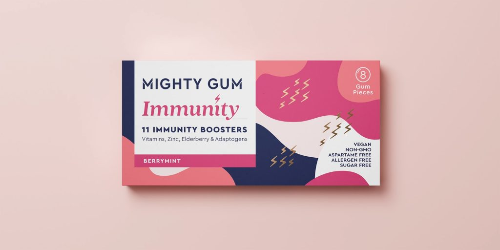 Design - Mighty Gum - packaging
