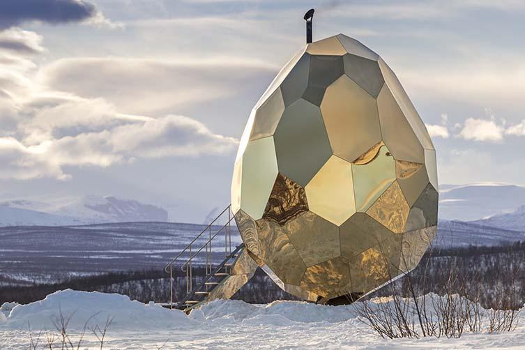 Solar Egg Public Sauna, Futurniture and Bigert & Bergstrom