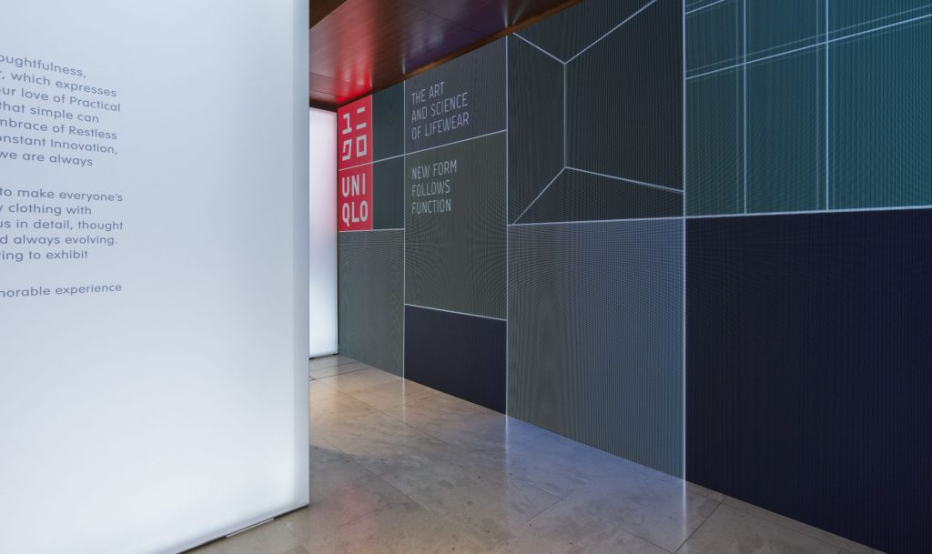 uniqlo exhibition by pentagram