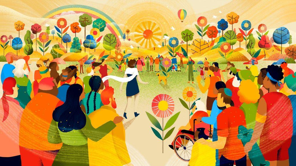 Chobani illustrations by Lasca Studio