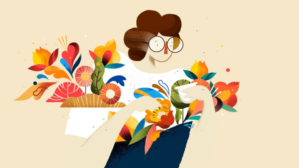 Chobani illustrations by Lasca Studio