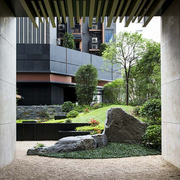 The Pavilia Hill Premium Condominium Landscape by Shunmyo Masuno