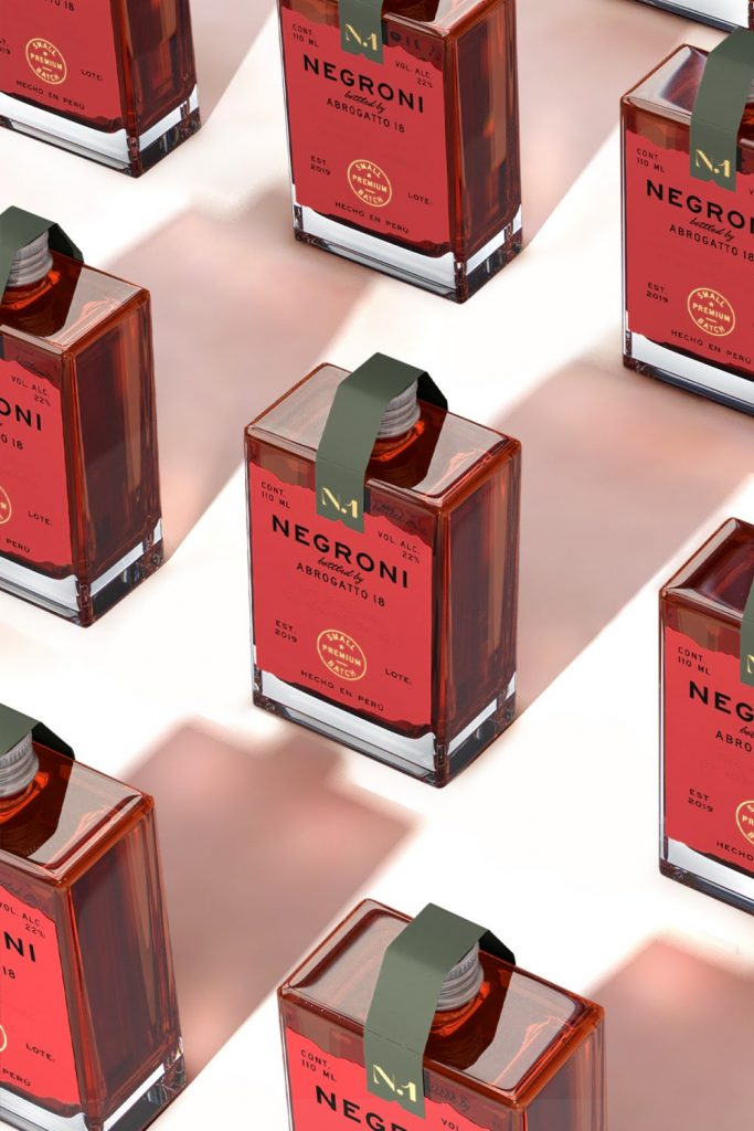 Abrogatto - Negroni coctails packaging