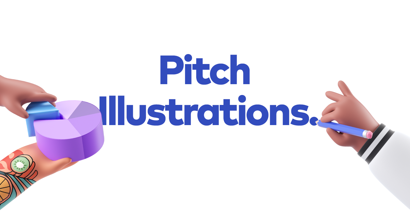 3D Brand pitch illustrations