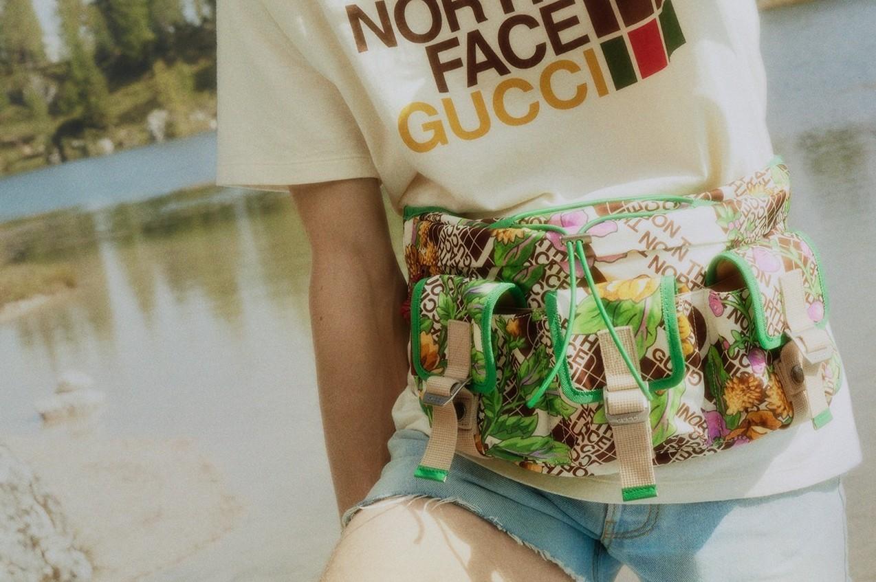gucci x the north face collaboration - ad campaign