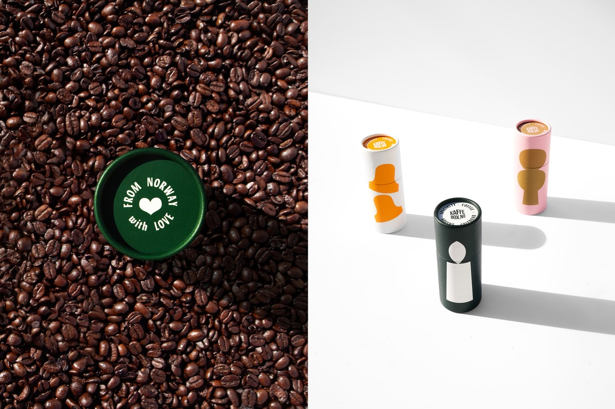 Packaging for KaffeBox by Herefor Studio