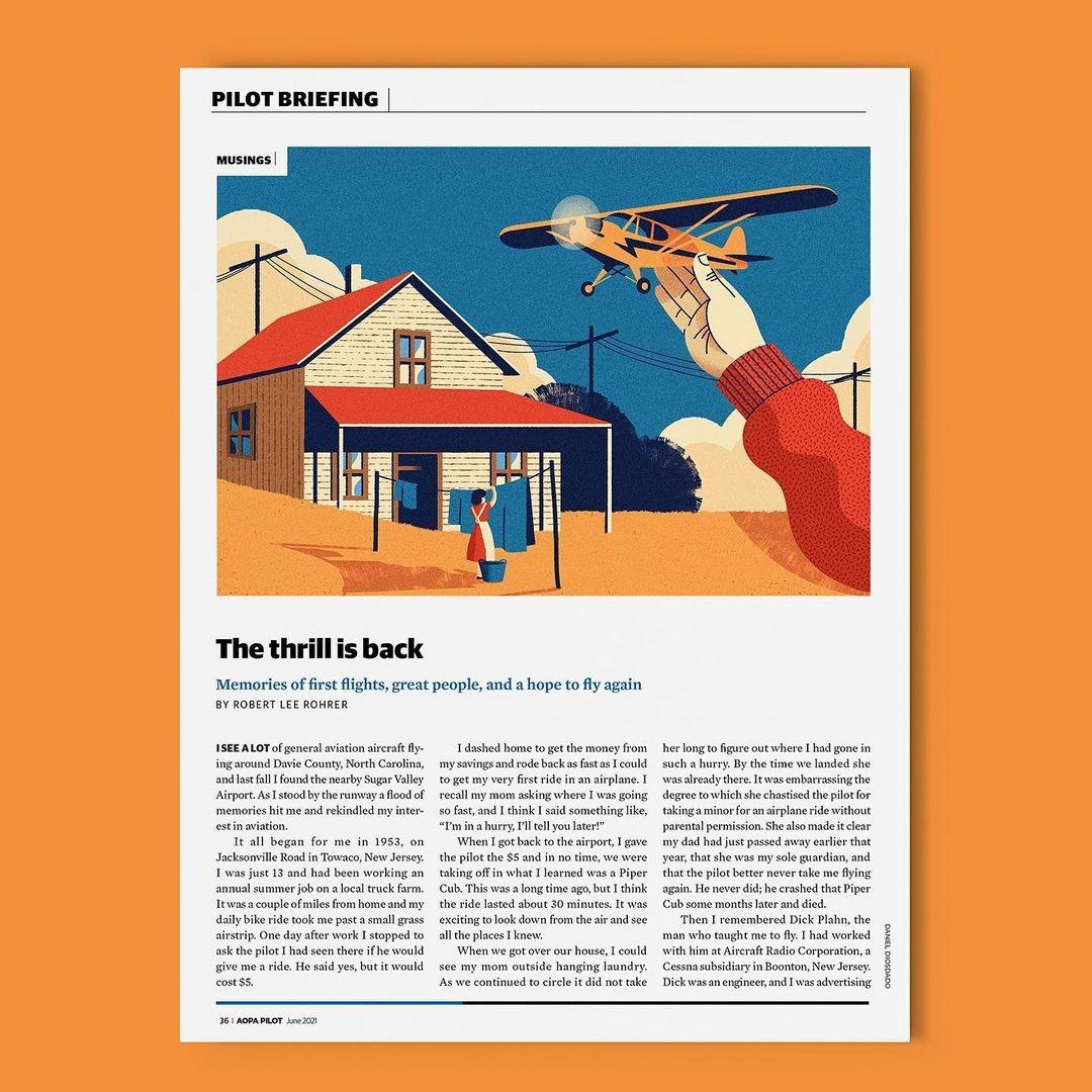 Daniel Diosdado for Fly with aopa magazine