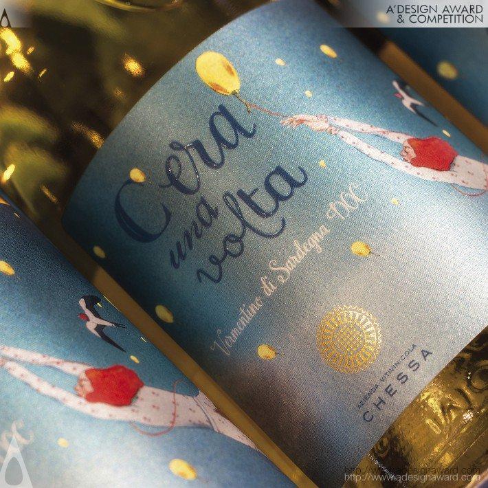 Cera Una Volta Wine Label by Giovanni Murgia