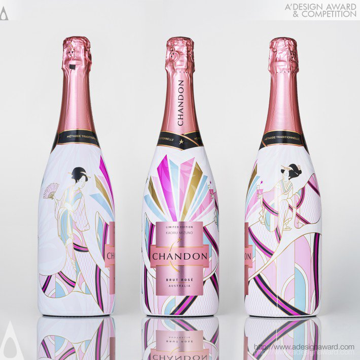 Chandon Rose 2020 Japan Edition Wine Packaging by Kaoru Mizuno