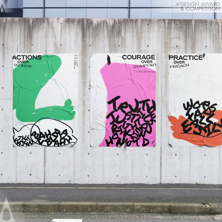 Action Means Everything Campaign Poster by Hsiao-Wen Hu