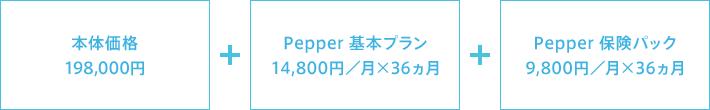 Pepper(一般販売モデル)の料金