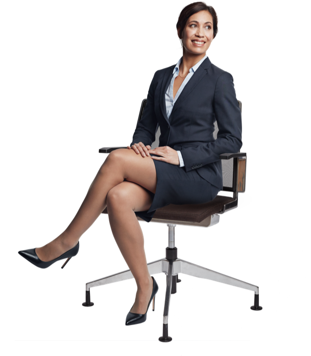Senior business women on chair