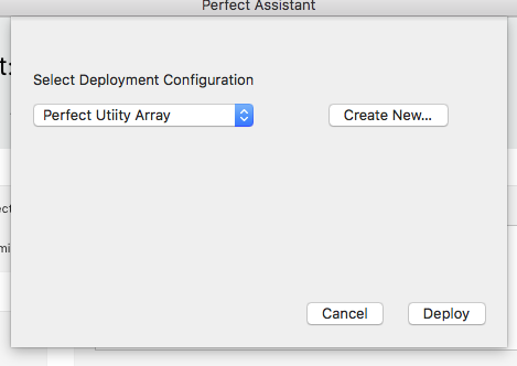 Select deployment configuration