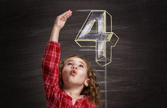4th yr girl chalkboard