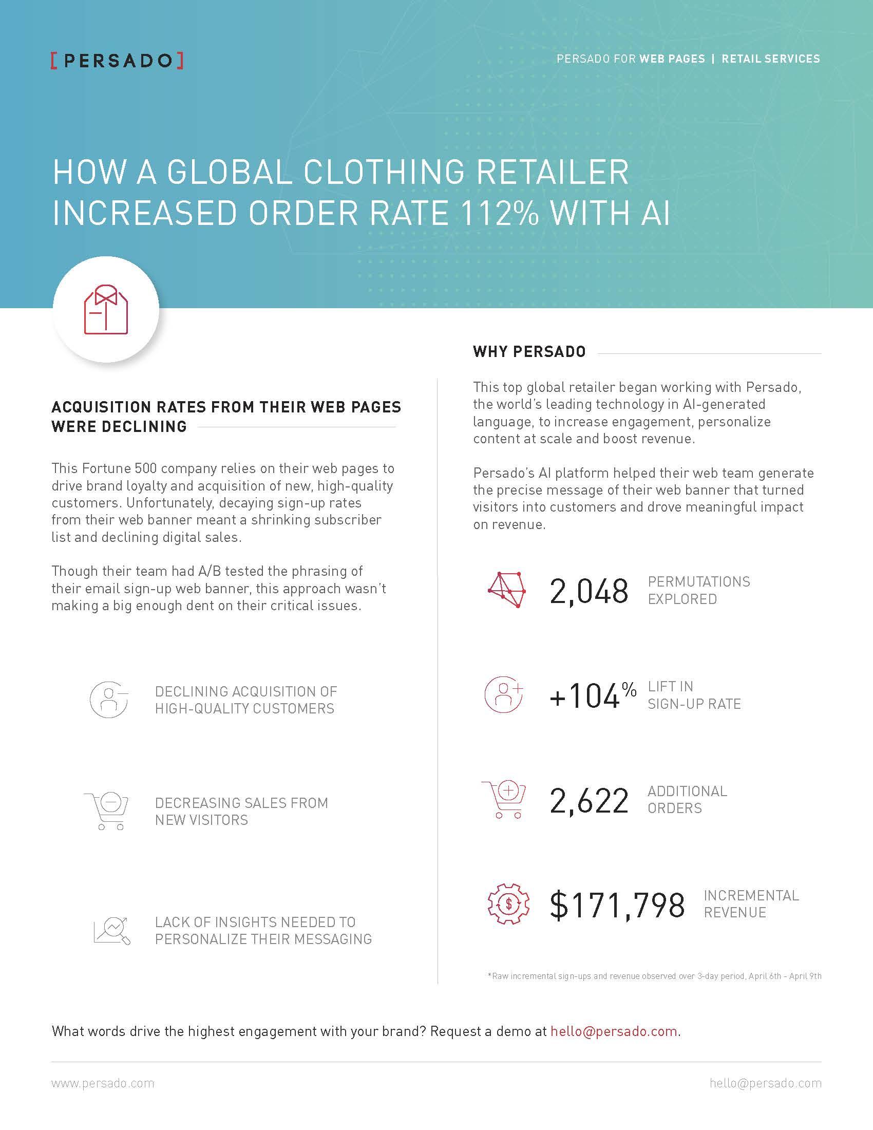 Global retailer cs