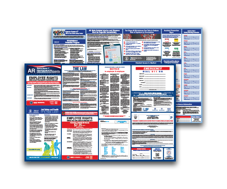 Arkansas  Labor  Law  and  OSHA  Safety  Posters  Bundle