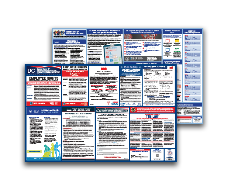 District  of  Columbia  Labor  Law  and  OSHA  Safety  Posters  Bundle