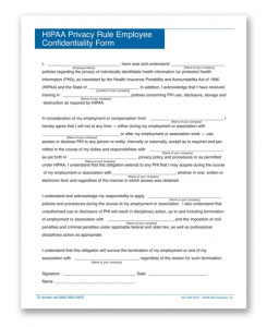 Personnelconcepts Hipaa Confidentiality Forms
