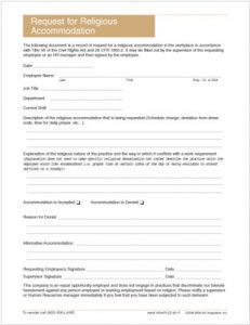 religious-accommodation-request-form