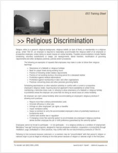 religious-discrimination-training-handouts
