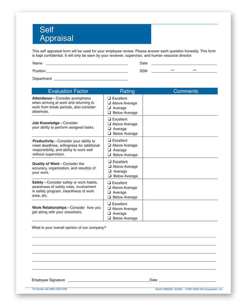 employee-self-appraisal-forms