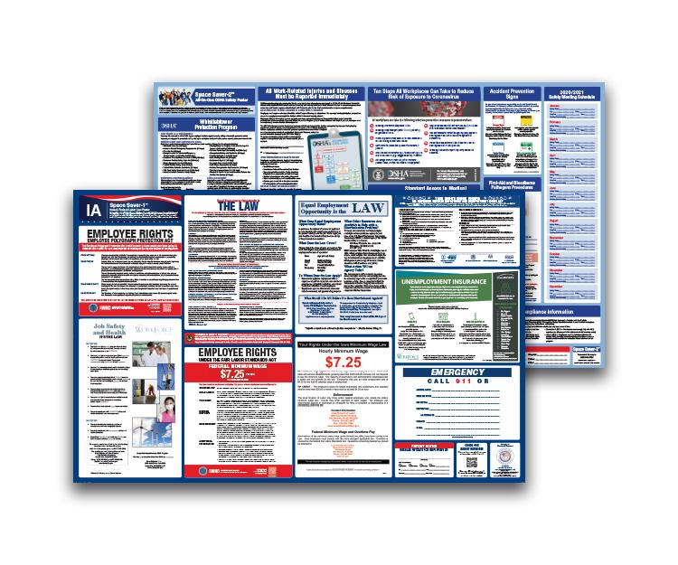 Iowa  Labor  Law  and  OSHA  Safety  Posters  Bundle