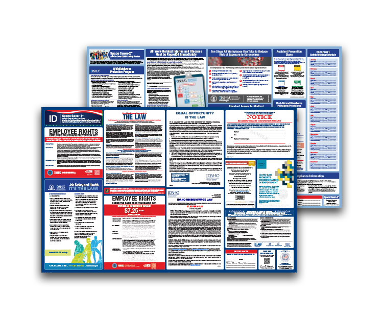 Idaho  Labor  Law  and  OSHA  Safety  Posters  Bundle