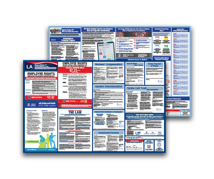 Louisiana  Labor  Law  and  OSHA  Safety  Posters  Bundle