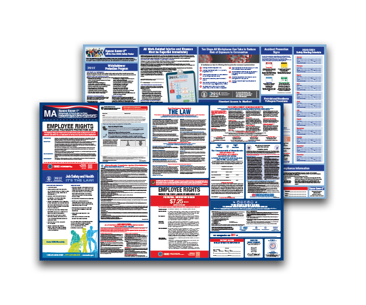 Massachusetts  Labor  Law  and  OSHA  Safety  Posters  Bundle