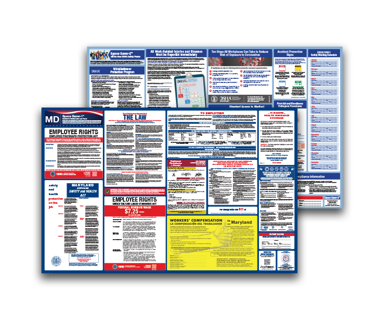 Maryland  Labor  Law  and  OSHA  Safety  Posters  Bundle