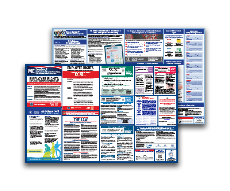 Maine  Labor  Law  and  OSHA  Safety  Posters  Bundle