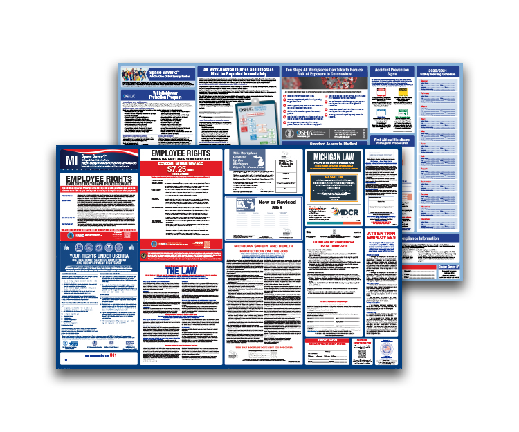 Michigan  Labor  Law  and  OSHA  Safety  Posters  Bundle